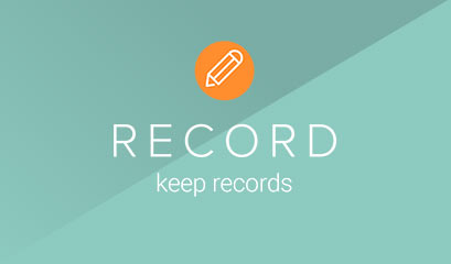 Record - keep records